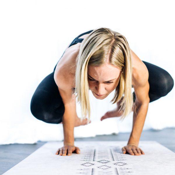 yogi does crow pose