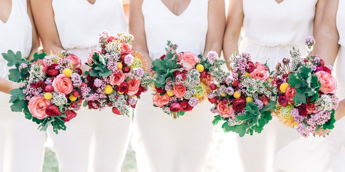 northern beaches wedding wedding flowers pink and green