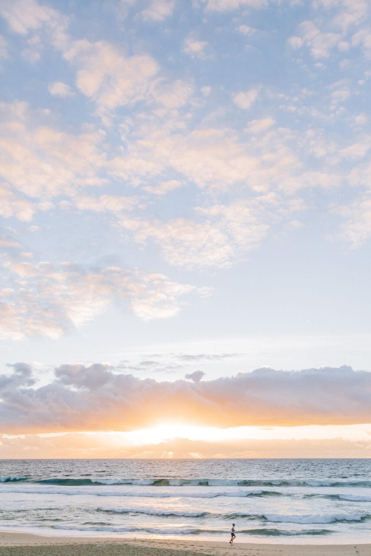 bondi beach at sunrise dowdney family