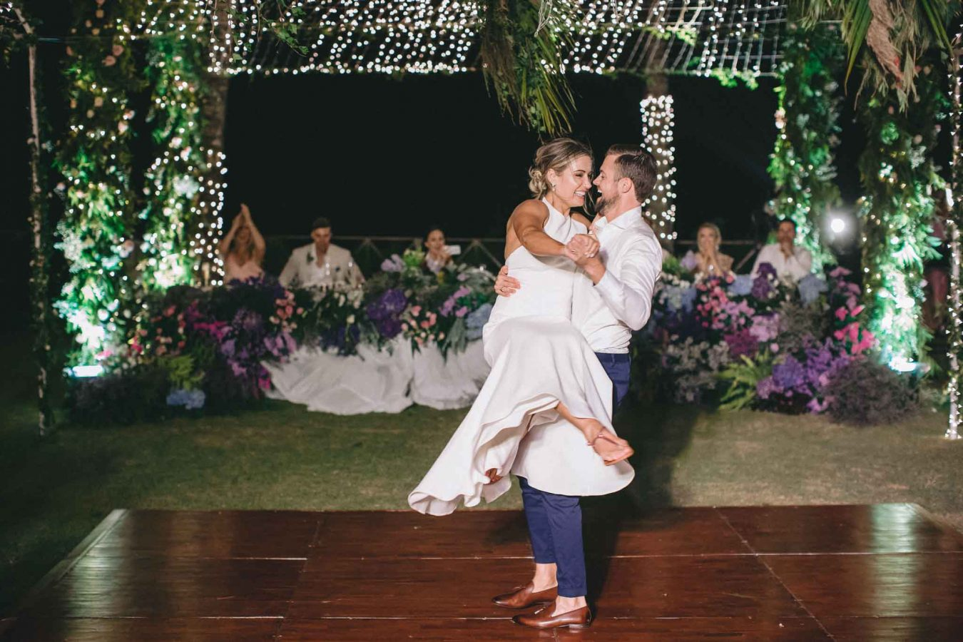 Khayangan Estate Bali Wedding Kat Rollings bride and groom first dance 2